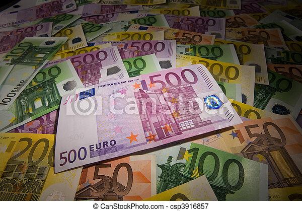 Euro banknotes - csp3916857