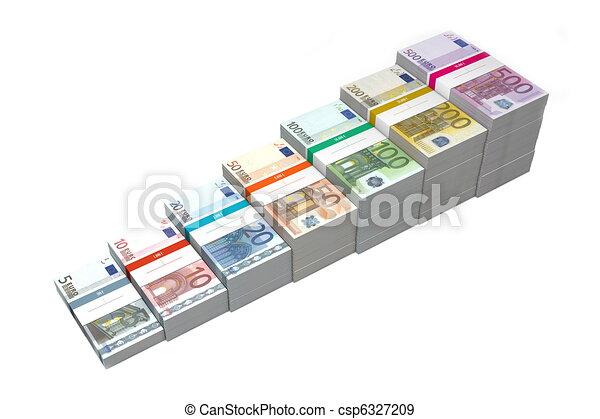 Euro Banknotes Ramp 5 - 500 - csp6327209