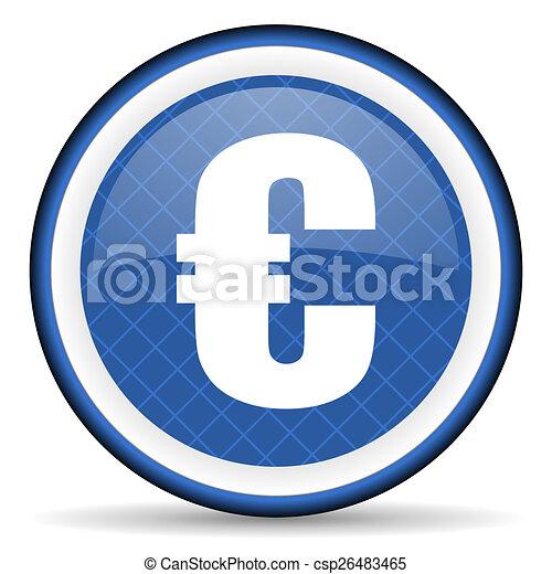 euro blue icon - csp26483465