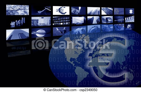 Euro Business corporate image, multiple screen - csp2349050