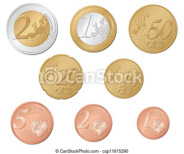 Euro coins - csp11615290