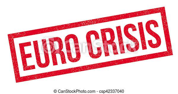 Euro Crisis rubber stamp - csp42337040
