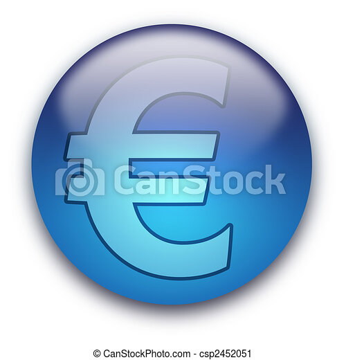 Euro currency button / sign - csp2452051