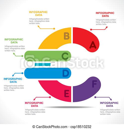 Creative Euro Currency Symbol Info Graphics Design Vector