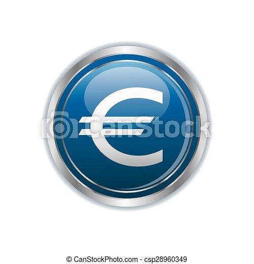 Euro icon - csp28960349