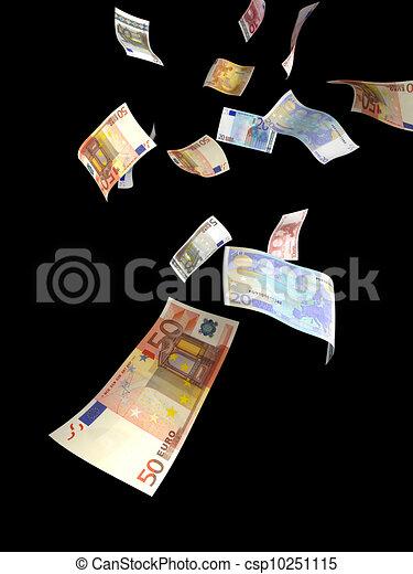 Euro money rain - csp10251115