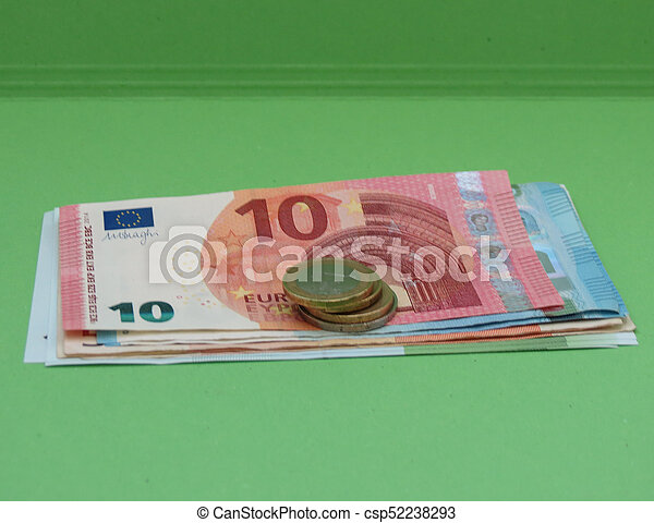 Euro notes and coins, European Union - csp52238293