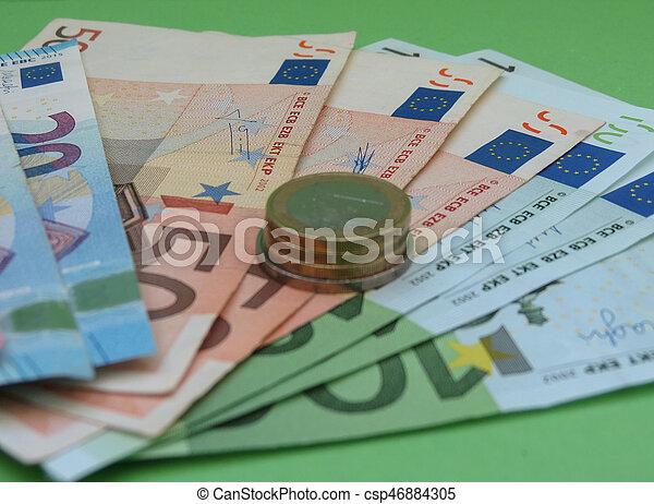 Euro notes and coins, European Union - csp46884305