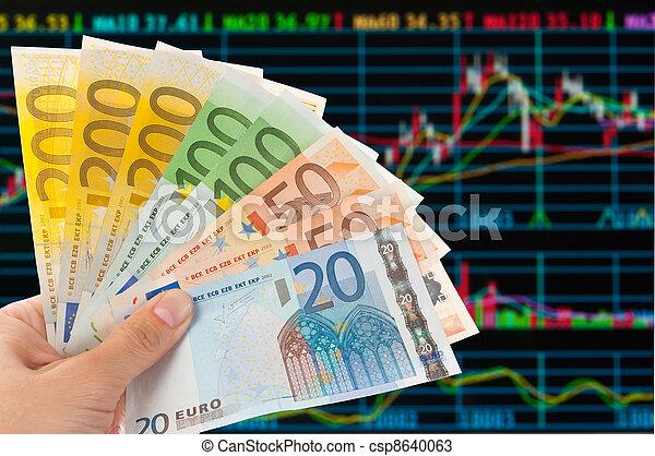 Euro notes with sotck or exchange trade data  analysis - csp8640063