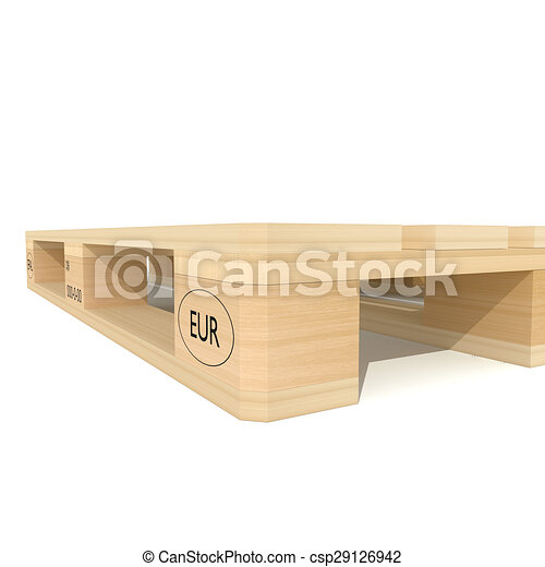 Euro Pallet Wooden 3d Rendered Illustration Of Isolated
