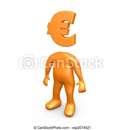Euro Person - csp2074421
