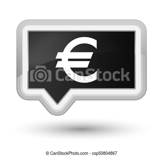 Euro sign icon prime black banner button - csp50804867
