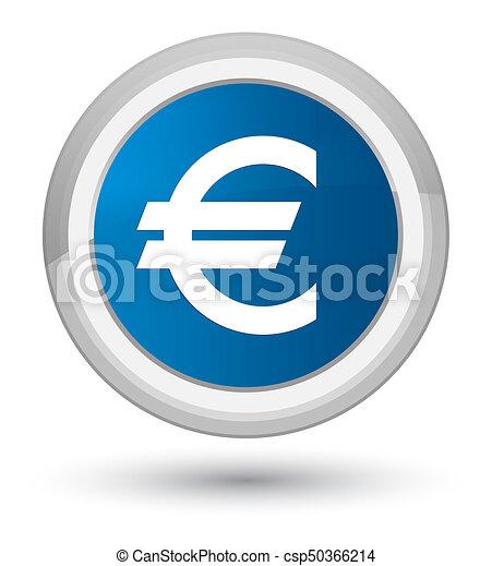 Euro sign icon prime blue round button - csp50366214