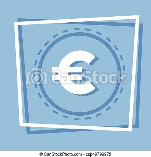 Euro Sign Icon Web Button - csp49799978