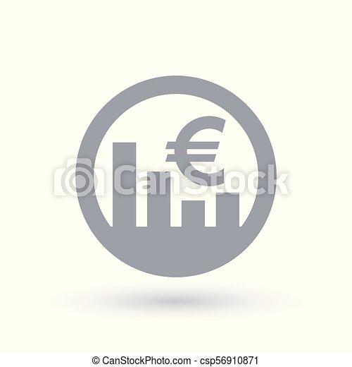 Euro Stock Market Icon European Currency Exchange Rate Sign Euro