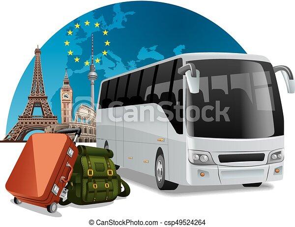 Una gira en autobús en Europa - csp49524264