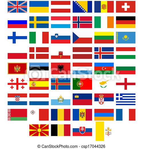 europa bandeiras países diferente ilustração experiência
