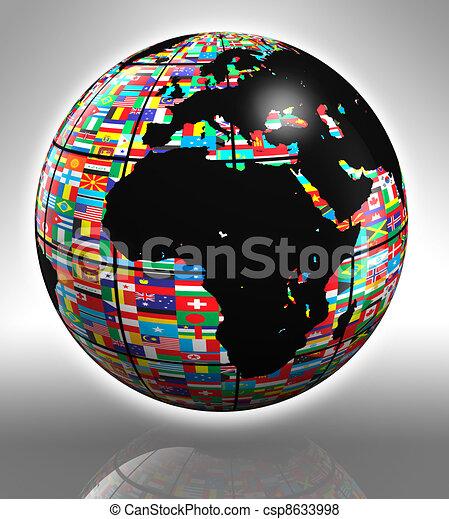 Erdkugel Afrika und Europa - csp8633998