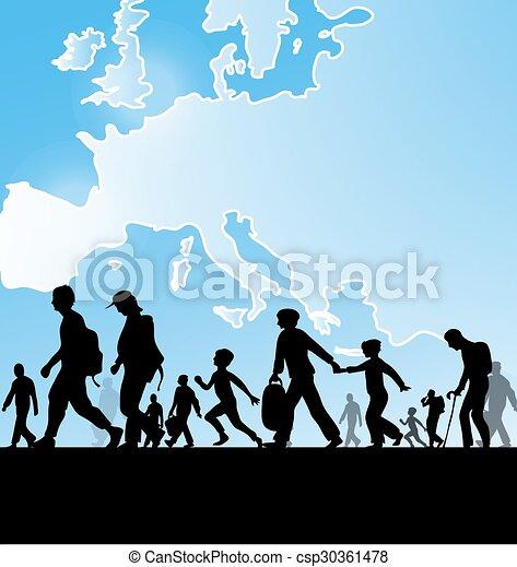 Inmigración en Europa - csp30361478