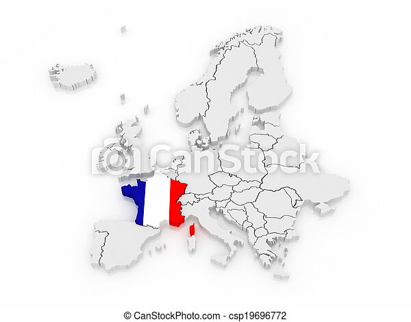 Europa Karta France 3