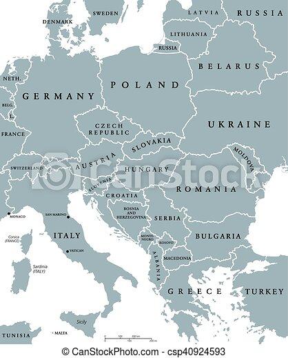 europa kort med lande