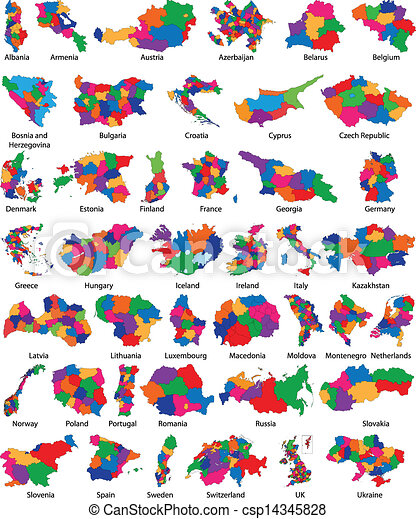 europa, kraj, mapa - csp14345828