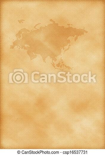 europa, mapa, antigas, ásia - csp16537731
