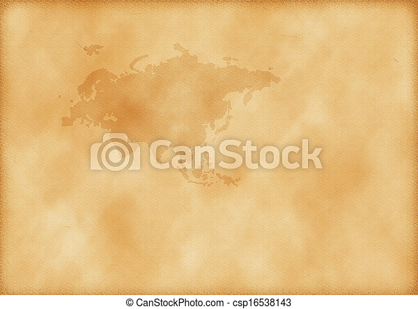 europa, mapa, antigas, ásia - csp16538143