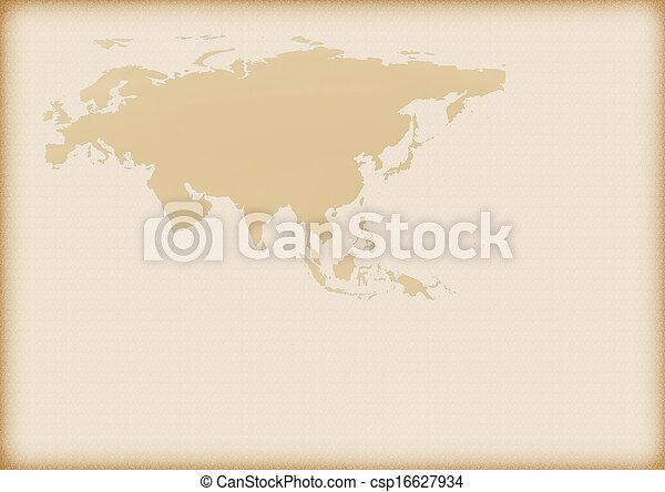 europa, mapa, antigas, ásia - csp16627934
