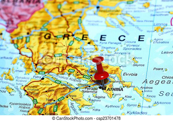 Europa Mapa Ateny Przypiety Mapa Uzywany Czuc Sie Moze