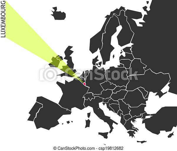 Europa Mapa Luksemburg Polityczny Europa Mapa