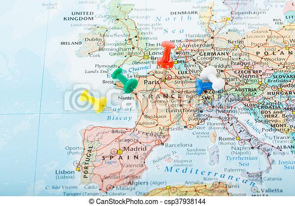 Europa Mapa Podroz Planowanie Szpilki Twoj Trip