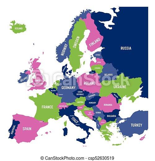 Europa Karta Med Namn