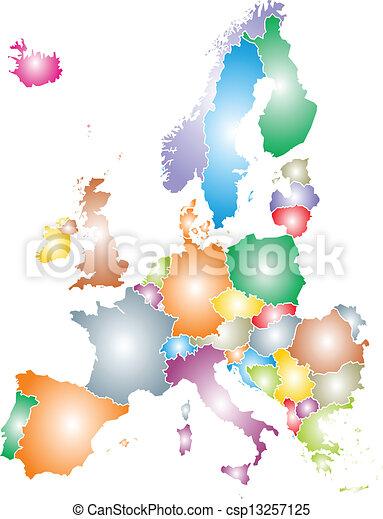 europa, mappa - csp13257125