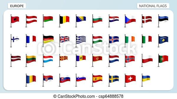 Banderas nacionales de Europa - csp64888578