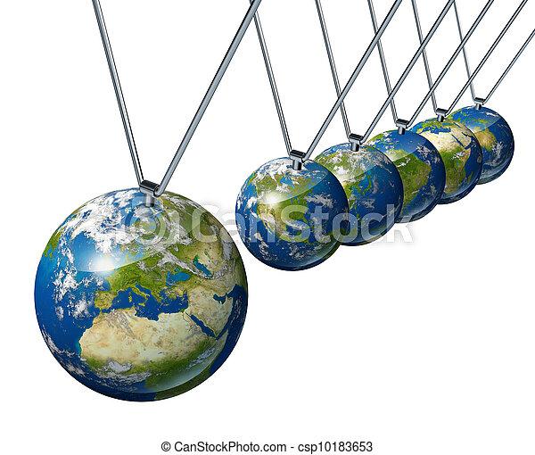 El péndulo con Europa afecta a la economía mundial - csp10183653