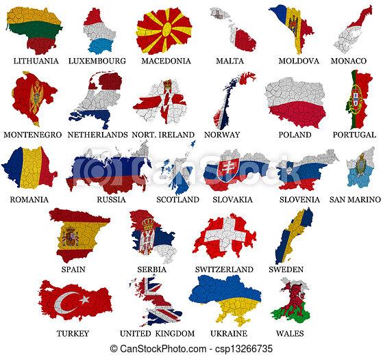 europa países mapas bandeira parte 2 europa w países l