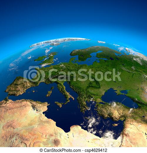 europa, satelliti, vista, altezza - csp4629412