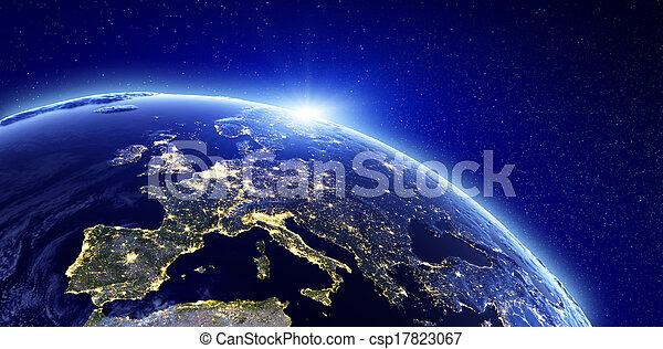 europa, stad, -, lichten - csp17823067