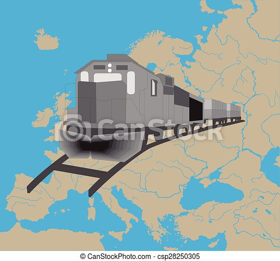 europa, treno - csp28250305