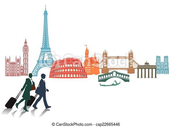 Europa viaje turismo vector eps buscar im genes de for European design firms