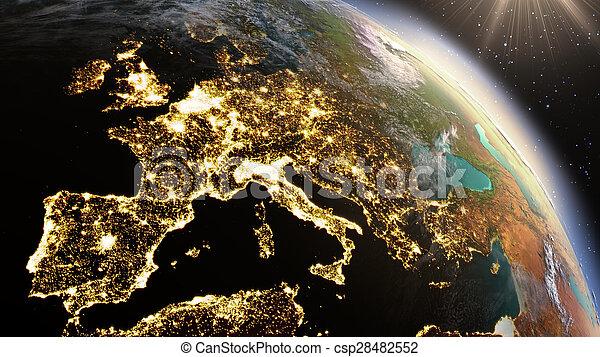 europe, éléments, meublé, ceci, image, zone., planète, nasa, la terre - csp28482552
