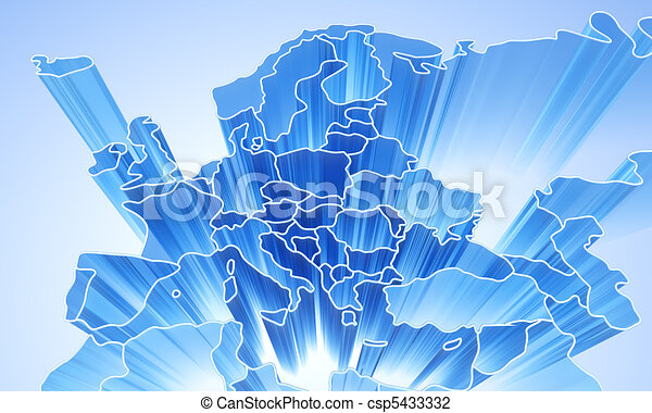 Europe abstract 3D background - csp5433332