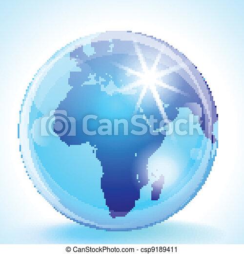 Europe africa the middle east globe Blue marble globe