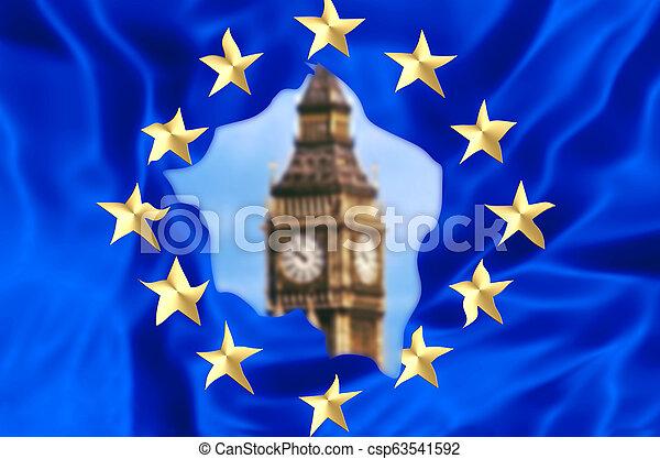 Europe broken by UK - csp63541592