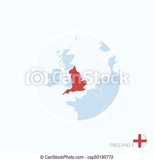 Carte Angleterre Europe.Europe Carte Angleterre Bleu England Mis Valeur Color Rouges Icone