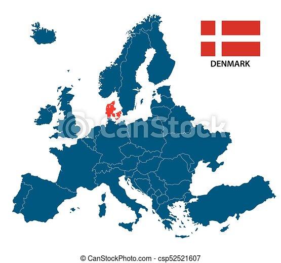 danemark carte europe
