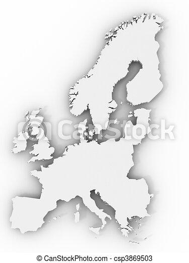 europe, carte - csp3869503