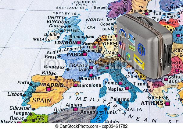 Carte Europe Voyage.Europe Carte My Voyage Photos Cas Autocollants
