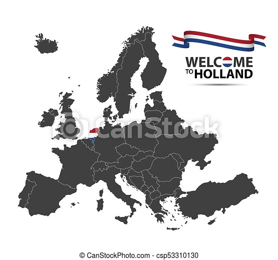 Carte Europe Pays Bas.Europe Carte Pays Bas Etat Apparence Isole Illustration